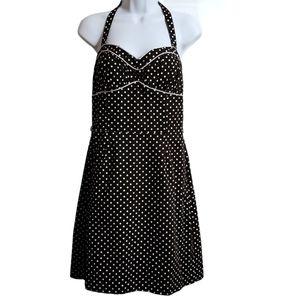 XOXO Retro Style Polka Dot Halter Top Dress